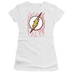 Dc Flash - Juniors Airbrush Bolt T-Shirt