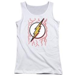Dc Flash - Juniors Airbrush Bolt Tank Top