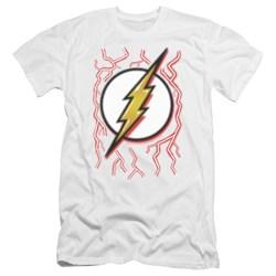 Dc Flash - Mens Airbrush Bolt Premium Slim Fit T-Shirt