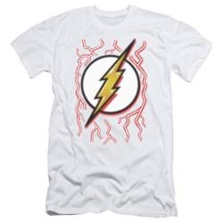 Dc Flash - Mens Airbrush Bolt Slim Fit T-Shirt