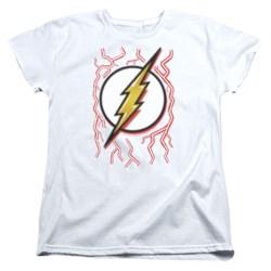 Dc Flash - Womens Airbrush Bolt T-Shirt