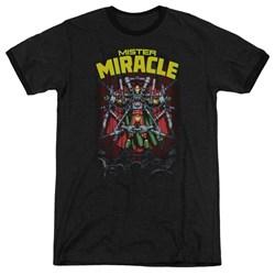 Jla - Mens Mister Miracle Ringer T-Shirt