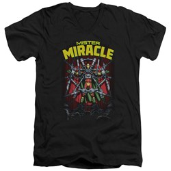 Jla - Mens Mister Miracle V-Neck T-Shirt