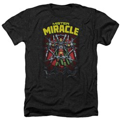 Jla - Mens Mister Miracle Heather T-Shirt