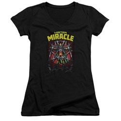 Jla - Juniors Mister Miracle V-Neck T-Shirt