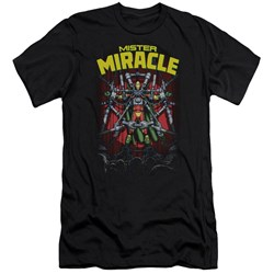 Jla - Mens Mister Miracle Premium Slim Fit T-Shirt