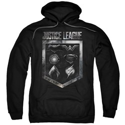 Justice League Movie - Mens Shield Of Emblems Pullover Hoodie