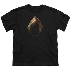 Justice League Movie - Youth Aquaman Logo T-Shirt