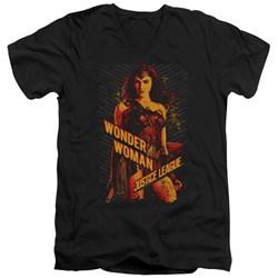 Justice League Movie - Mens Wonder Woman V-Neck T-Shirt
