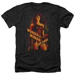 Justice League Movie - Mens Wonder Woman Heather T-Shirt