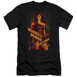 Justice League Movie - Mens Wonder Woman Premium Slim Fit T-Shirt
