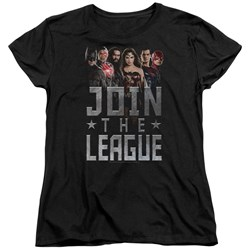 Justice League Movie - Womens Join The League T-Shirt
