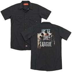 Justice League Movie - Mens Dawn (Back Print) Work Shirt