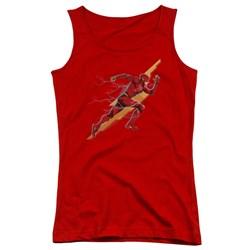 Justice League Movie - Juniors Flash Forward Tank Top