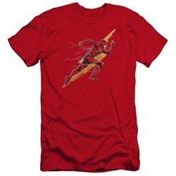 Justice League Movie - Mens Flash Forward Premium Slim Fit T-Shirt