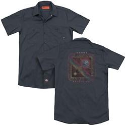 Journey - Mens Departure (Back Print) Work Shirt