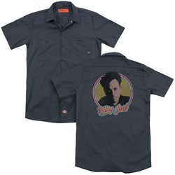 Billy Joel - Mens Billy Joel (Back Print) Work Shirt