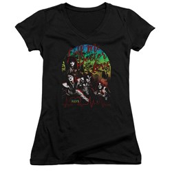 Kiss - Juniors Doctor Love V-Neck T-Shirt