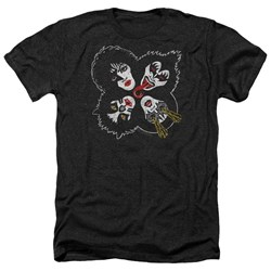 Kiss - Mens Rock And Roll Heads Heather T-Shirt