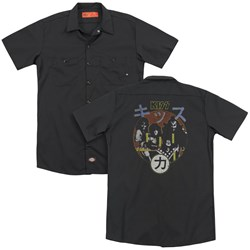 Kiss - Mens Hotter Cover (Back Print) Work Shirt