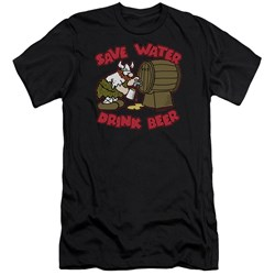 Hagar The Horrible - Mens Save Water Drink Beer Premium Slim Fit T-Shirt