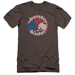 Beetle Bailey - Mens Red White And Bailey Premium Slim Fit T-Shirt