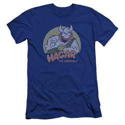 Hagar The Horrible - Mens Hagar Circle Premium Slim Fit T-Shirt