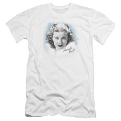 Lucille Ball - Mens In Blue Premium Slim Fit T-Shirt