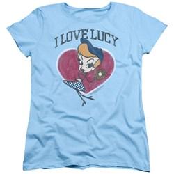 I Love Lucy - Womens Baseball Diva T-Shirt