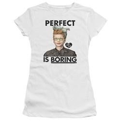 I Love Lucy - Juniors Perfect Is Boring Premium Bella T-Shirt