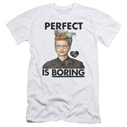 I Love Lucy - Mens Perfect Is Boring Slim Fit T-Shirt