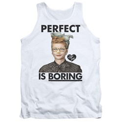 I Love Lucy - Mens Perfect Is Boring Tank Top
