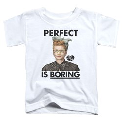 I Love Lucy - Toddlers Perfect Is Boring T-Shirt