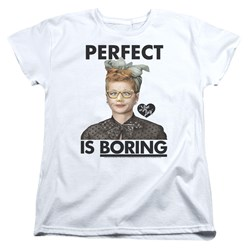 I Love Lucy - Womens Perfect Is Boring T-Shirt