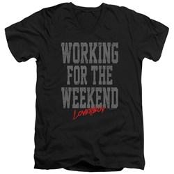 Loverboy - Mens Working V-Neck T-Shirt