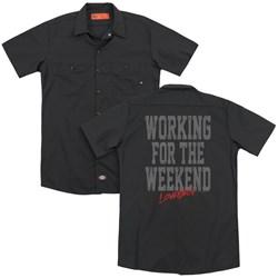 Loverboy - Mens Working (Back Print) Work Shirt