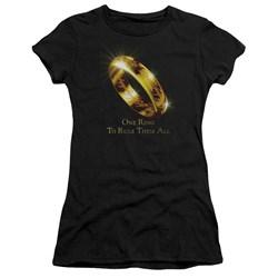 Lor - Juniors One Ring Premium Bella T-Shirt