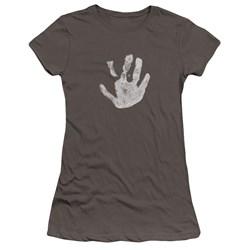 Lor - Juniors White Hand Premium Bella T-Shirt