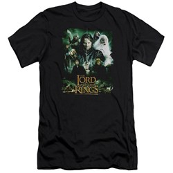 Lord Of The Rings - Mens Hero Group Premium Slim Fit T-Shirt