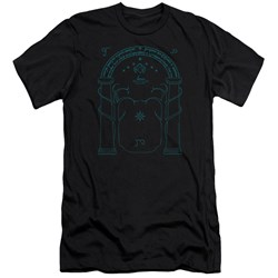 Lord Of The Rings - Mens Doors Of Durin Slim Fit T-Shirt