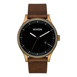 Nixon - Men's Station Leather Analog Watch