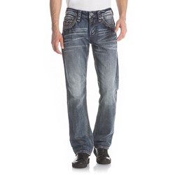 Rock Revival - Mens Raine J208 Straight Jeans