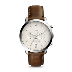 Fossil Neutra Chronograph Brown Leather Watch - FS5380