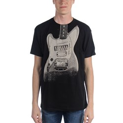 Nirvana - Guitar Image Discharge Guys T-shirt in Black