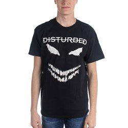 Disturbed - Mens White Scary Face T-Shirt