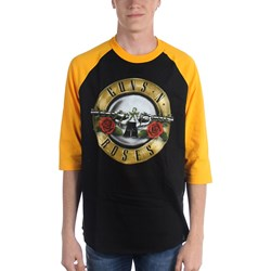 Guns N Roses - Mens Bullet Raglan (Elevated) Raglan Shirt