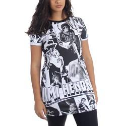 Jimi Hendrix - Womens Collage Dress T-Shirt Dress