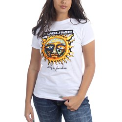 Sublime - Juniors 40 Oz. To Freedom T-Shirt In White