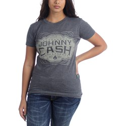 Johnny Cash - Womens Jc Emblem T-Shirt