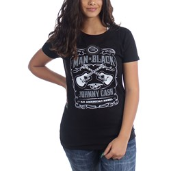 Johnny Cash - Womens Mib Guitar T-Shirt